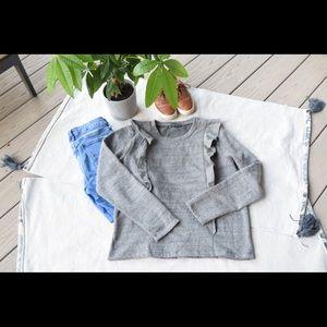 J. Crew Mercantile Ruffle Sweatshirt